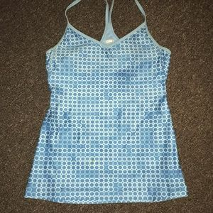 NIKE racer open back strappy tank Small